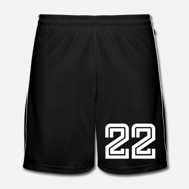 Anniversaire College Numbers, Nummern, Sports Numbers, 22 - Short de football Homme