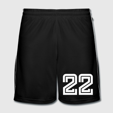 College Numbers, Nummern, Sports Numbers, 22 - Men's Football shorts