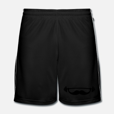 Fitness Funny Fitness Mustache / Beard - Men's Football shorts