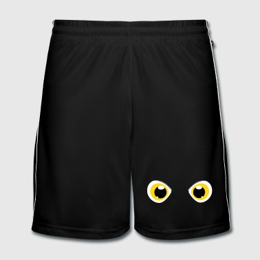 glowing eyes of a snowy owl - Men's Football shorts