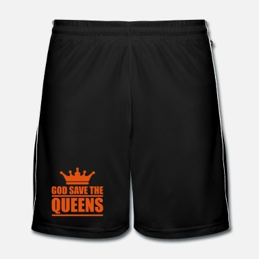 Text God save the queens (1 color) - Fotbollsshorts herr