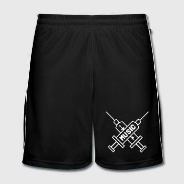 Music Is My Drug - Love Music - Spritze  - Männer Fußball-Shorts