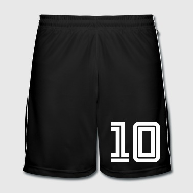 College Numbers, Nummern, Sports Numbers, 10 - Mannen voetbal shorts