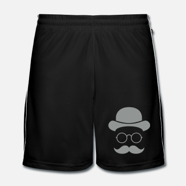 Funny Funny vintage face with Moustache & Glasses - Men's Football shorts