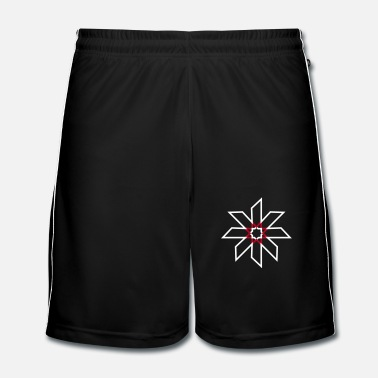 Ornement une étoile minimaliste - Short de football Homme