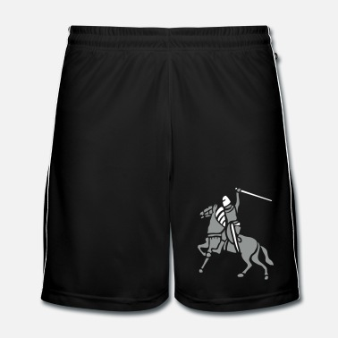 Médiéval Knight On Horse by patjila - Short de football Homme