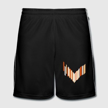 Futuristic symbol of an arrow - Men's Football shorts