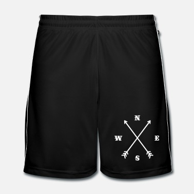 Red Cross Hipster compass / Cross - Modern Trendy Outfit - Men's Football shorts