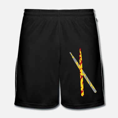 Bâton two crossed drumsticks for drums - Short de football Homme