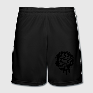 Skull with a crown - Men's Football shorts