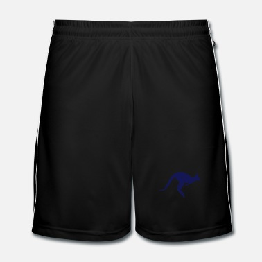 Silhouette A hopping kangaroo - Men's Football shorts