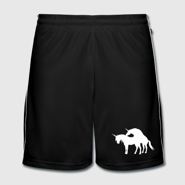 Amour Couple Unicorns (licorne) Make Love - Short de football Homme