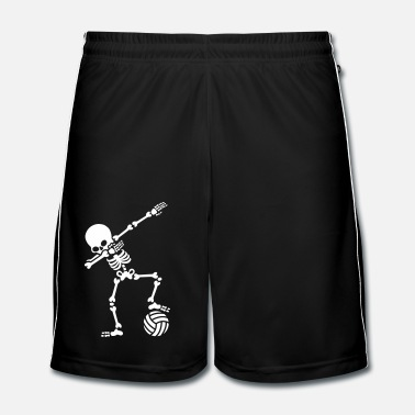 Beach Volleyball Dab dabbing skeleton (beach) volleyball - Men's Football Shorts