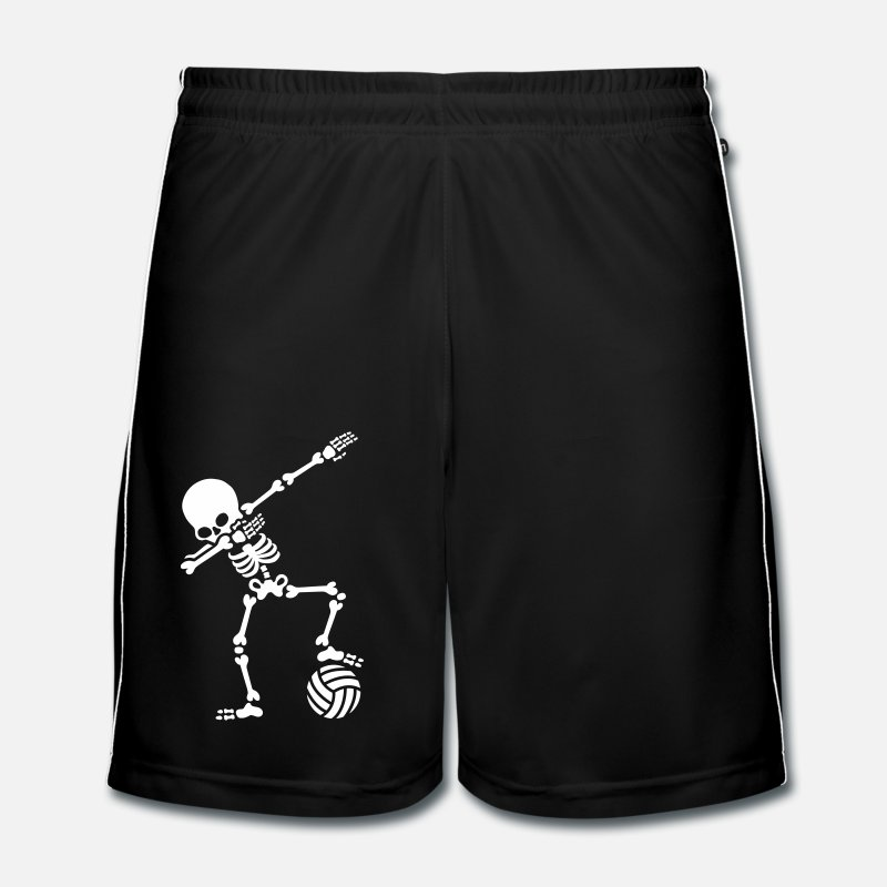 Ball Trousers & Shorts - Dab dabbing skeleton (beach) volleyball - Men's Football Shorts black/white