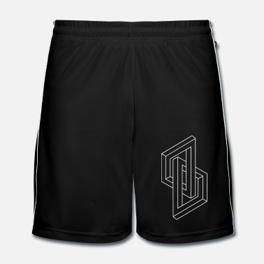Geek Optical Illusion - Impossible figure - Geometry - Männer Fußball Shorts