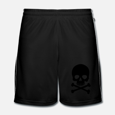 Metal Pirate Skull - Trendy & Cool Skull - Fotbollsshorts herr