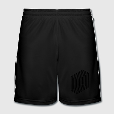 Optical Illusion (Impossible Minimal B & W Lines) - Men's Football shorts
