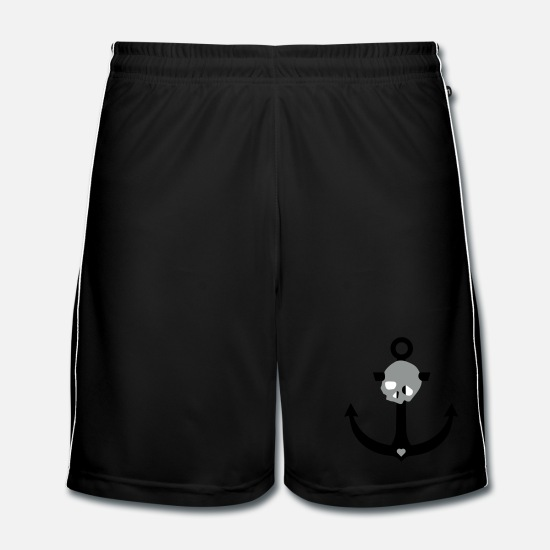Anchor Trousers & Shorts - Anchor skull - Men's Football Shorts black/white
