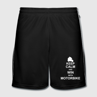 Coureur keep_calm_and_win_with_motorbyke_g1 - Short de football Homme