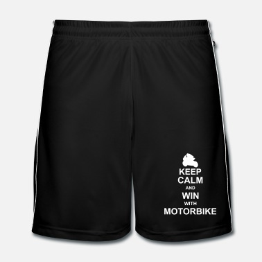 Motore keep calm and win with motorbyke kg10 - Pantaloncini da calcio uomo