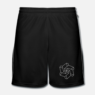 Symbole Illusion optique - Symbole de Chakra - Géométrie  - Short de football Homme