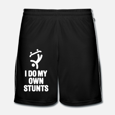 Skate I do my own stunts skateboard skateboarding skate - Men's Football Shorts