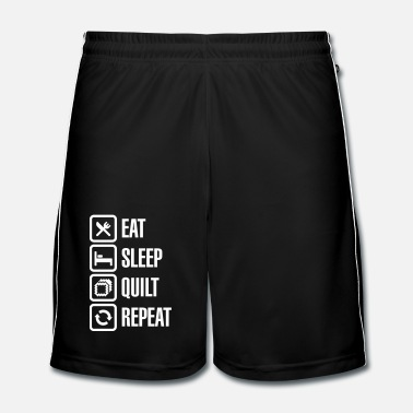 Together Eat Sleep Quilt Repeat - Men's Football Shorts