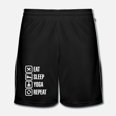 Geestelijke Eat Sleep Yoga repeat - Mannen voetbal shorts