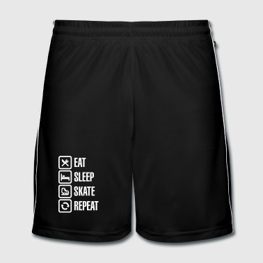Patinage Artistique Eat sleep figure ice skate repeat - Short de football Homme