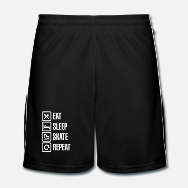 Skate Eat sleep figure ice skate repeat - Pantaloncini da calcio uomo