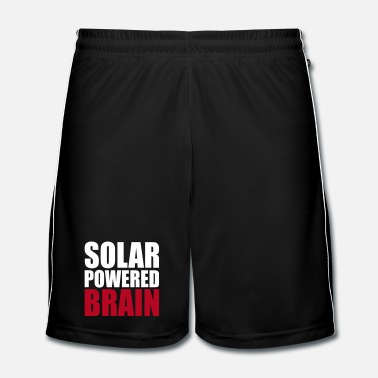 Brain solar powered brain - Men's Football Shorts