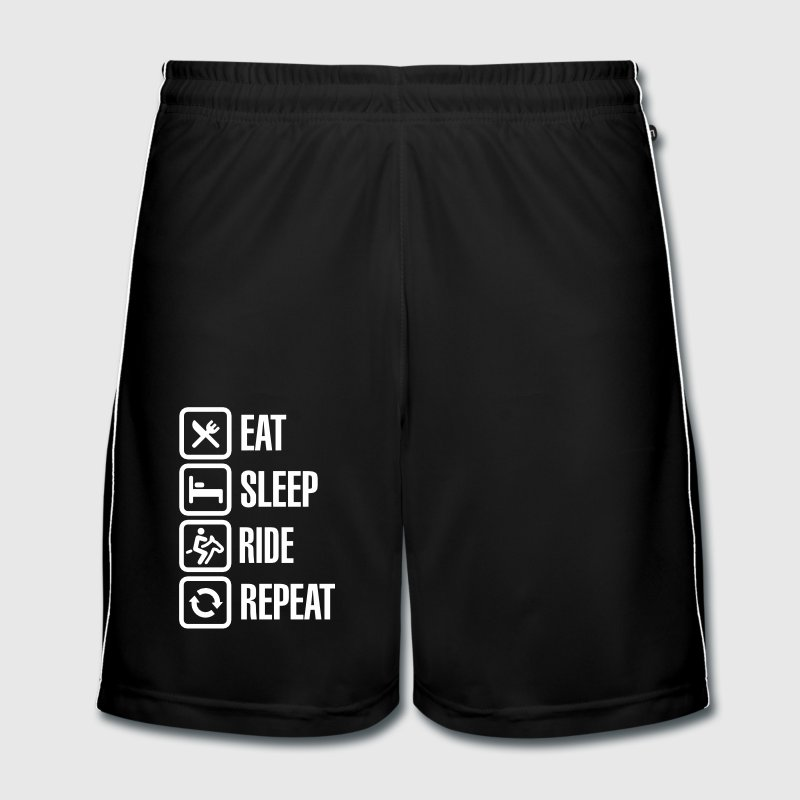 Eat sleep ride repeat - Men's Football shorts