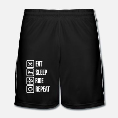 École Eat sleeps horse ride repeat - Short de football Homme