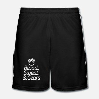 Off Blood sweat & gears -  Motocross - Motorcycle - Short de football Homme