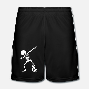 Tombe Dab dabbing skeleton plaster broken leg - Short de football Homme