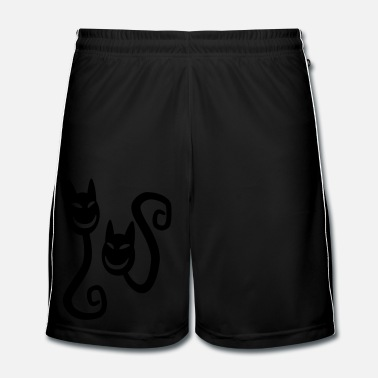 Ghost Laughing Ghost Cats by Cheerful Madness!! - Men's Football Shorts