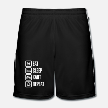 Snel Eat sleep kart karting go-karts repeat - Mannen voetbal shorts