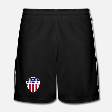 Logo USA Flag Logo - Short de football Homme