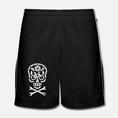 Pirate Halloween mountain bike MTB skull bicycle cycling  - Men's Football Shorts