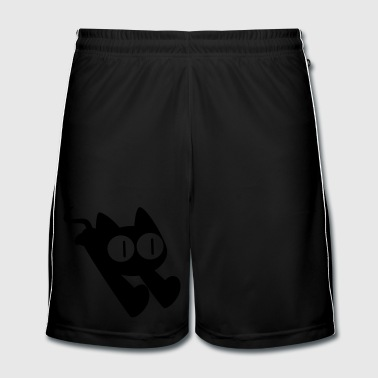 Cute Dashing Cartoon Cat by Cheerful Madness!! - Men's Football shorts