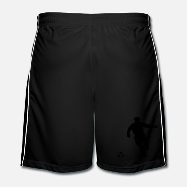 Silhouette footballer / football player silhouette - Men's Football shorts