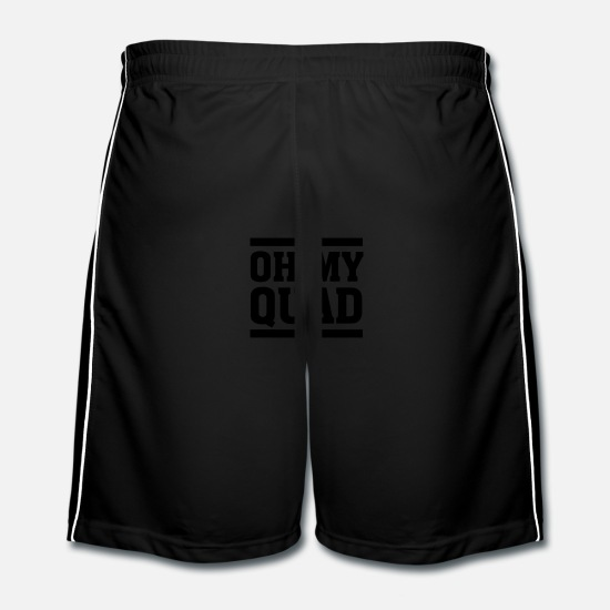 Burpees Trousers & Shorts - Oh My Quad - Men's Football Shorts black/white