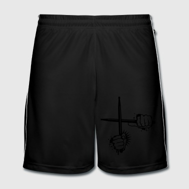 two crossed drumsticks - Men's Football shorts