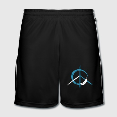 A colorful peace symbol as a graffito - Men's Football shorts