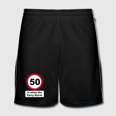50 is when the Party Starts (3 colors) - Männer Fußball-Shorts