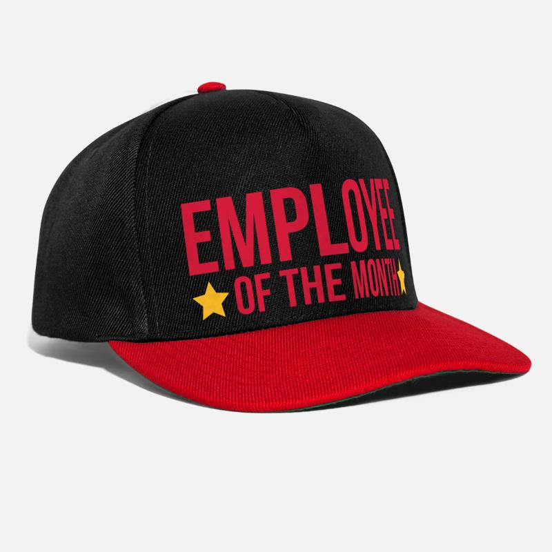 Cool Gorras y gorros - Employee Of The Month  - Gorra Snapback negro/ rojo