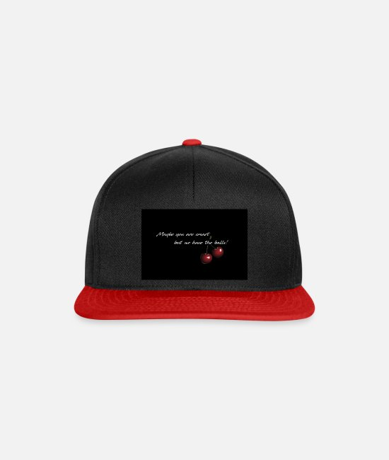 Joy Caps & Hats - Cherry - Maybe you are smart - Snapback Cap black/red