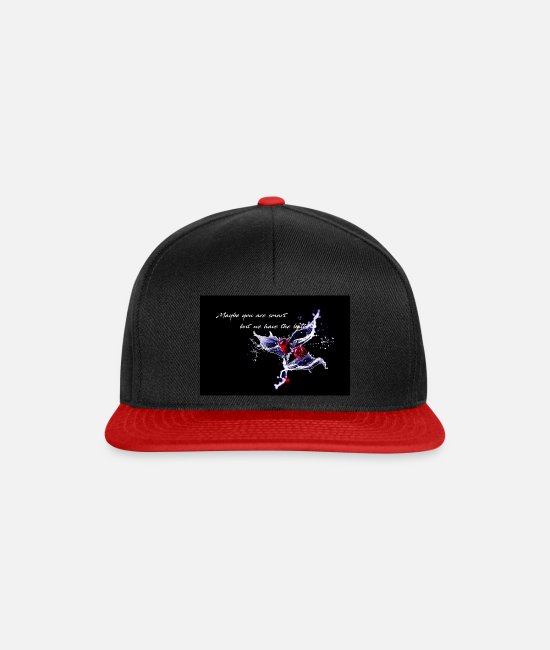 Water Caps & Hats - Cherry - Maybe you are smart - Snapback Cap black/red