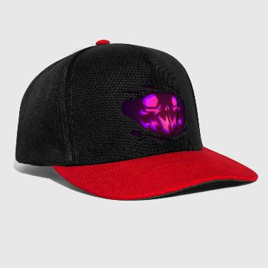 Ripped Scary evil pumpkin face Ripped look - Snapback Cap