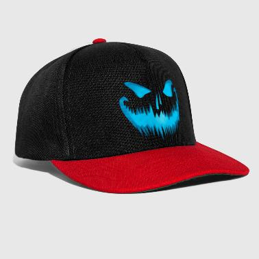 Evil pumpkin face look devil face - Snapback Cap